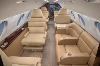 Aircraft Flight With Falcon 20 - Charter Flight Group