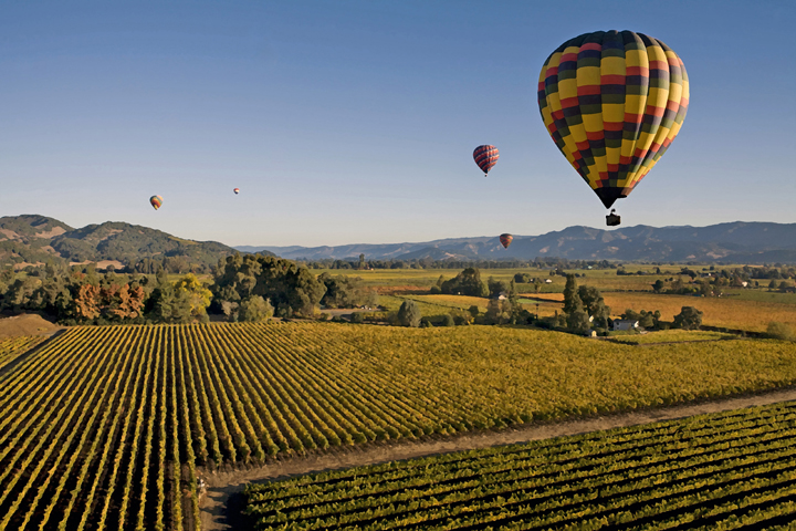 Empty Leg Charter Flights to Napa Valley California