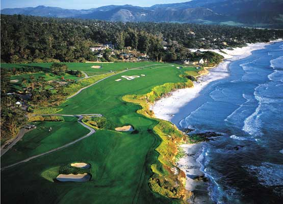Air Charter Private Jet Services to and from Pebble Beach California