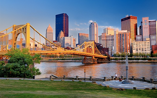 Charter a Jet to Pittsburgh Pennsylvania